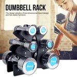 3-Tier Dumbbell Storage Stand Rack For Multilevel Hand Weight Tower Stand For Gym Fitness Organization Rack (Without Dumbell)