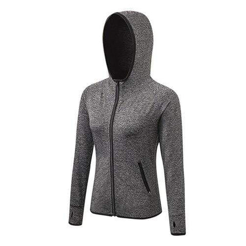 Women Running Jackets Long Sleeve Jogging Sweatshirt Ladies Yoga Sports Coat Zipper Fitness Gym Hooded Women's Clothing