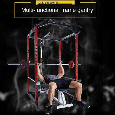 Type Squat Rack Portal Frame Barbell Equipment Household High Barbell Squat Set Commercial Use gang ling chuang Bench Press