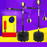 Stable Base Stand Boxen Set With Air Pump Speed Reaction Training Rod Bouncy Ball Punching Ball Boxing Tumbler Fitness Trainer