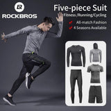 ROCKBROS Men's Sport Suits Running Sets Quick Dry Sweat-absorbent Sports Joggers Training Gym Fitness Tracksuits Running Sets