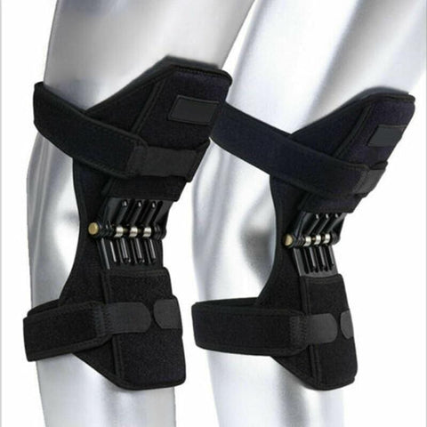 Breathable Non-Slip Knee Protector brace Support Joint Knee Pads Power Lift Pad Rebound Spring Force Knee Booster Legs Protector