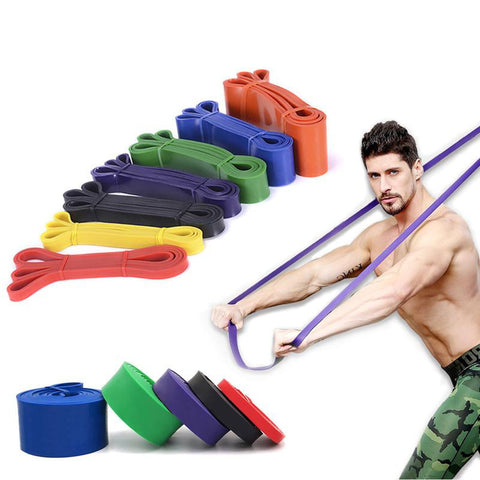 gym Rubber Resistance Bands Yoga Band Elastic Loop Crossfit Pilates Fitness Expander Pull up Strength Unisex Exercise Equipment - UDO FITNESS