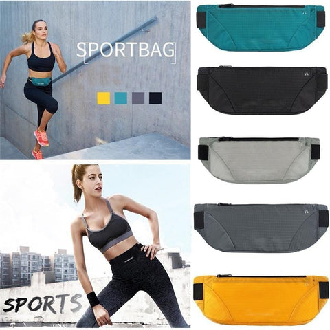 Solid Waterproof Waist Bum Bag Running Jogging Belt Pouch Zip Fanny Pack Sport Runner Athletic Bags Phone Pouch for 6.5 inch A40