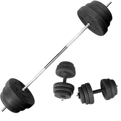 Weightlifting barbell set home dumbbell men's 35kg exercise arm dual-use combined straight bar barbell fitness equipment