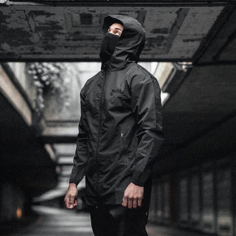 Men's Breathable Zip Up Hooded Running Jacket