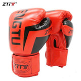 ZTTY Kick Boxing Gloves for Men Women PU Karate Muay Thai Guantes De Boxeo Free Fight MMA Sanda Training Adults Kids Equipment