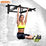 ONETWOFIT Indoor Pull Up Bar Wall Home Gym Chin Up Bar Wall Horizontal Bar Boxing Power Ropes Slings Training Fitness Equipment