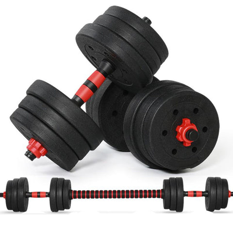 10KG Adjustable Dumbbell Weight Set Weights  plastic cover  Gym Workout Environmentally Men'S Fitness Dumbbells - UDO FITNESS