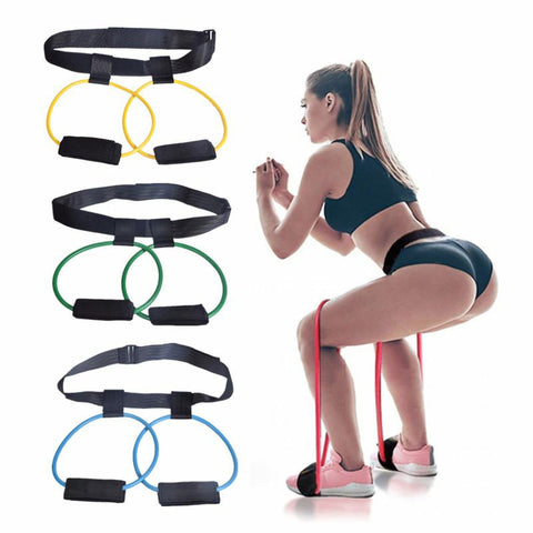 Fitness Women Booty Butt Band Resistance Bands Adjustable Waist Belt Pedal Exerciser for Glutes Muscle Workout Equipments - UDO FITNESS