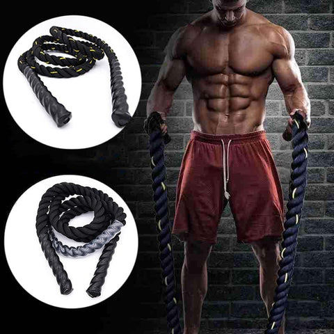2.8M Heavy Jump Rope Crossfit Weighted Battle Skipping Ropes Power Training Improve Strength Fitness Home combat Gym Equipment