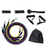 11 PCS Training Resistance Bands Set Fitness Gym Stretch Expander Pull Rope Pilates Elastic Tubes Workout Equipment Gym Rubber - UDO FITNESS