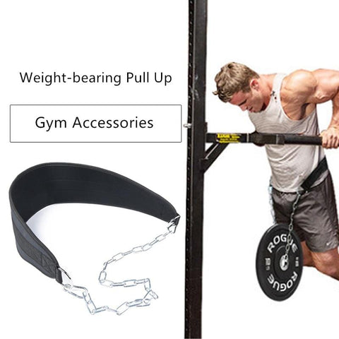 Load Pull-up Pull Up Waistband with Iron Chain Weight Bearing Exercise Gym Equipment Strength Training Pulling up Waist Belt Gym