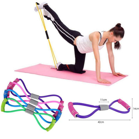 New Gym 8 Word Elastic Band Chest Developer Rubber Latex Resistance Bands Fitness Equipment Stretch Yoga Training - UDO FITNESS