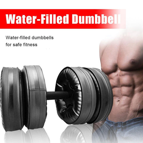 Water-Filled Dumbbell Fitness Equipment Convenient Water Injection Dumbbell Removable Adjustable Fitness 16-25kg - UDO FITNESS