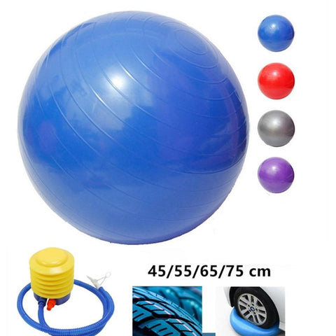 In Stock Sports Yoga Balls Bola Pilates Fitness Gym Balance Fitball Exercise Pilates Workout Massage Ball 45cm 55cm 65cm 75cm