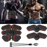 ABS Body Building Fitness Equipments Electric Muscle Toner Machine Wireless Toning Belt 6 Six Pack USB Charging Abs Fat Home Gym