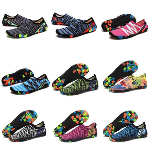 Swimming Shoes Diving Outdoor Beach Shoes Couple's Upstream Shoes Fitness Skin Touching Snorkeling Non-Slip Wading Shoes