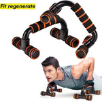 2PCS Fitness Push Up Bar-tool H I-shaped ABS Fitness Push Up Gym Workout For Body Muscle shaping Hand Grip Trainer