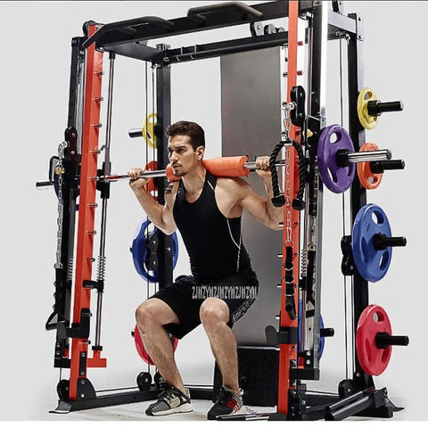Multifunctional Lying Down Barbell Weightlifting Frame Trainer With Bench 70kg Barbell Disc Combination Fitness Equipment