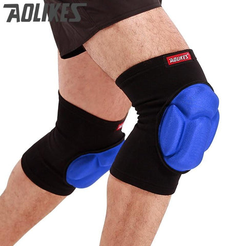 AOLIKES PR Football Volleyball Extreme Sports knee pads brace support Protect Cycling Knee Protector Kneepad rodilleras