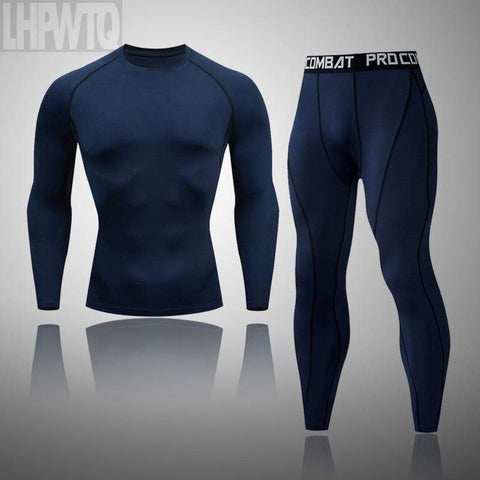 Men's Workout Sports Suit Gym Fitness Compression Clothes thermal underwear Running Jogging Sport Wear Exercise Workout Tights