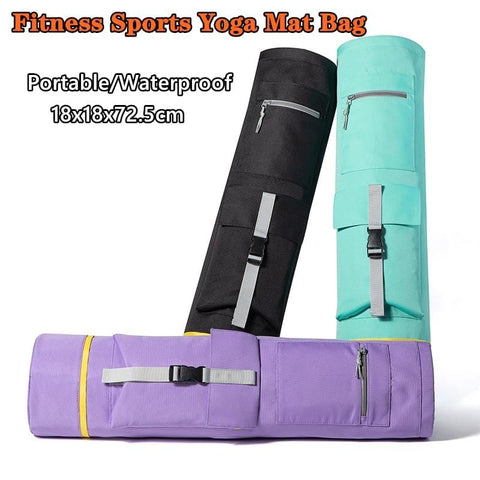 Cylinder Shape Yoga Mat Storage Bag Fishing Backpack with Handle and Zipper