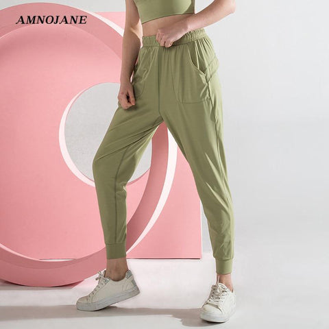 Sweatpants Jogging Joga Crz Yoga Pants Women Running Fitness Gym Clothing Sports Workout Athletic Seamless Leggings With Pockets