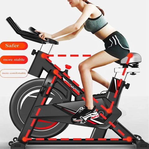 Indoor cycling bikes with dashboard mute comprehensive training bike gym smart game app sports bike