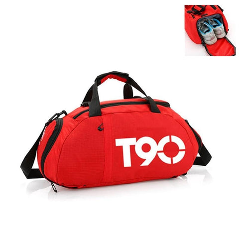 New Men Sport Gym Bag Women Outdoor Gym Fitness Bags Separate Space for Shoes Pouch Rucksack Hide Backpack