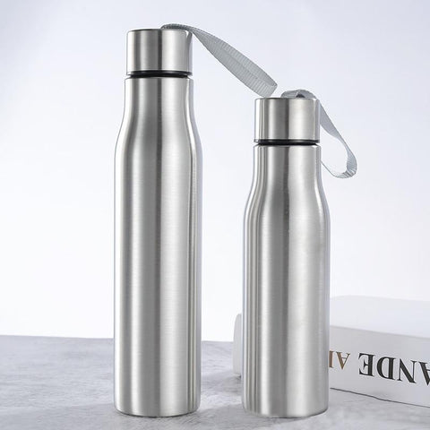 Cycling Sports Stainless Steel Water Bottle Drinking Cup Leakproof Portable Water Bottle with Handle Rope Kids School 1000ml