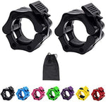 "Quick Release 2"" Olympic Barbell Weight Lifting Bar Bumper Plates Lock Clips Dumbbell Clamp Collars Gym Body Fitness"