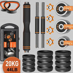 Adjustable Dumbbell Set Kettlebell Weights Fitness Equipment for Men Barbell