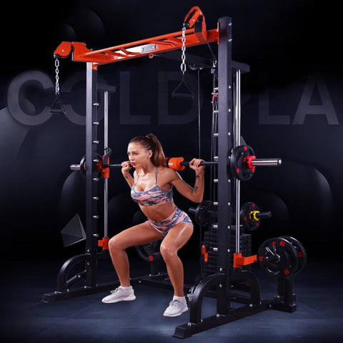 200kg Smith machine comprehensive training equipment fitness equipment household multi-functional squat bench push dragon gantry