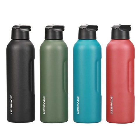 New 27oz 34oz Stainless Steel Water Bottle with straw Vacuum Flasks Insulated Travel Portable Thermal To Climb 1000ml thermos