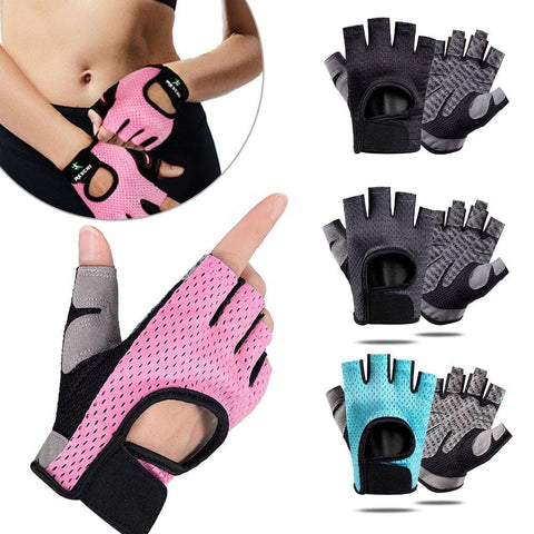 Gym Fitness Gloves Power Weight Lifting Women Men Workout Bodybuilding Half Finger Hand Protector Outdoor Sports Cycling Gloves