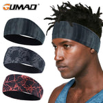 Sport Running Fitness Sweatband Cycling Workout Yoga Headband Gym Headscarf Tennis Hair Band Girls Bandages Bicycle Men Women