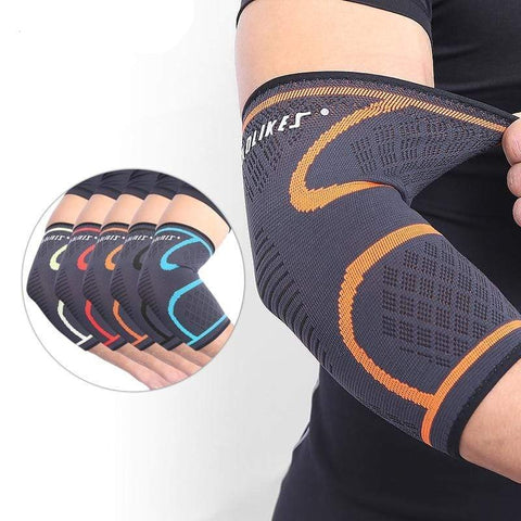 aolikes Elbow Brace Compression Support Sleeve Adjustable Strap for Weightlifting Arthritis Volleyball Tennis Elbow Pad
