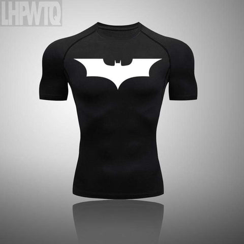 Men Batman T-shirts Men Compression Shirts Sportswear Short Sleeve Tops costume Fitness Body Building Running t-shirt Tops