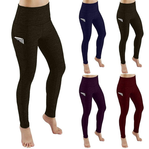 Fashion Women Workout Out Pocket Leggins Skinny Joggers Pants Fitness Sports Running Athletic Pants Sports Clothing mujer