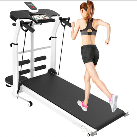New treadmill multi-functionfolding mechanical treadmill Folding Mechanical Treadmill fitness  fitness equipment With Handrail