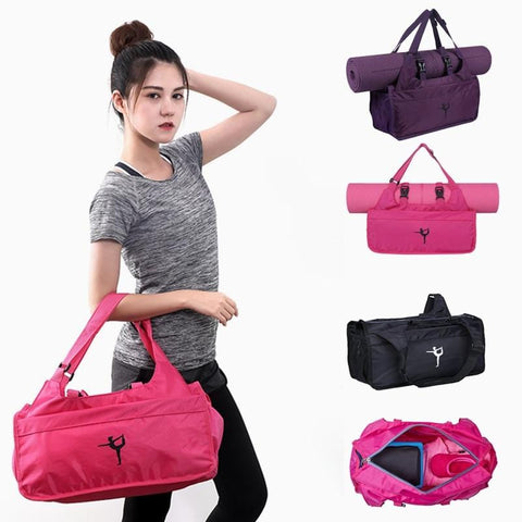 Multifunctional Fitness Yoga Bag Waterproof Sport Shoulder Bag Yoga Pilates Mat Case Bag without Mat