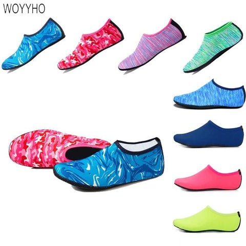 WOYYHO Beach Aqua Shoes Swimming Water Sport Barefoot Sneaker Fitness Yoga Shoes Surfing Diving Snorkeling Non-slip Water Shoes