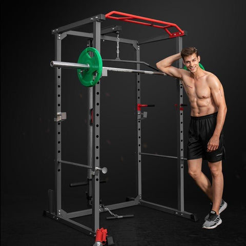 Profession Squat Rack Multifunctional Household Bench Stand Barbell Power Rack Gym Comprehensive Training Equipment Power Cage