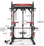 Popular household Smith mechanical steel frame gantry push frame fitness equipment comprehensive training device without squatti