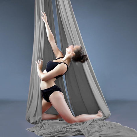 PRIOR FITNESS 18 Meters Yoga Aerial Silks Fabric for Acrobatic Fly Yoga swing Trapeze Silk Dance Hammock