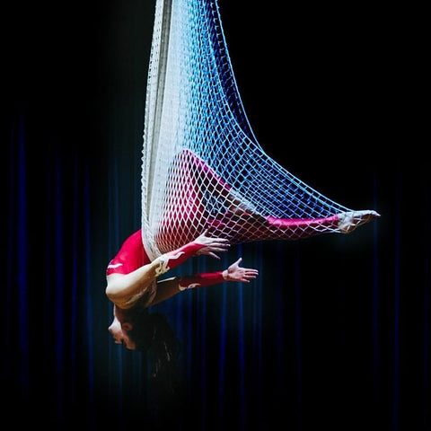 New fishing net aerial yoga hammock set swing hammock yoga rope colorful gradient color optional home exercise equipment