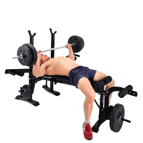 Foldable weightlifting bed bench press multifunctional comprehensive training device home fitness equipment