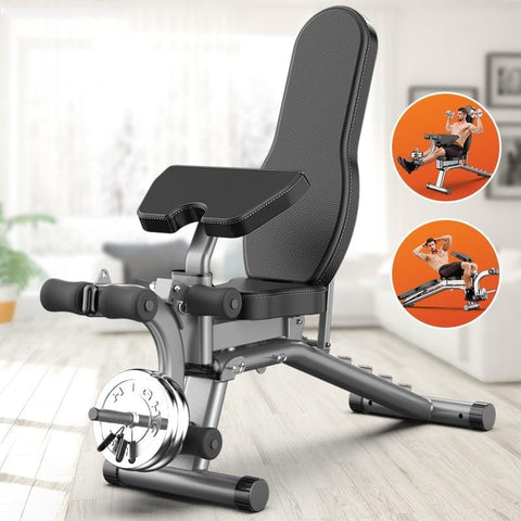 Dumbbell bench home multifunctional sit-up fitness equipment foldable supine board bench press bench fitness chair