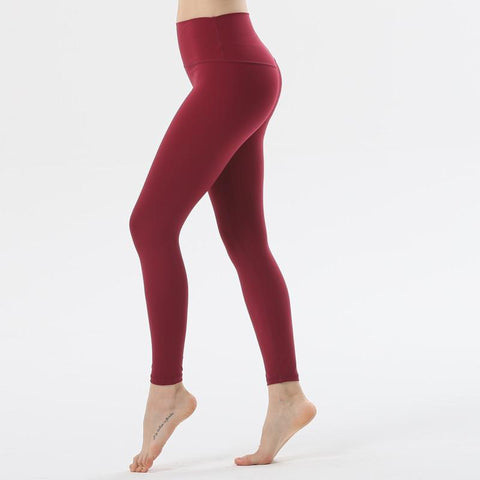 yoga Elastic Running Pants girl Fitness Workout Clothing Sport Sweatpants women Jogger Pants Red Skinny Ms Gym Trousers